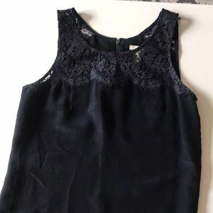 Jcrew black lace shell size 0